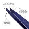 Slant Tweezer – Cobalt Blue